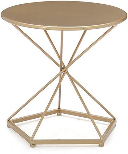 LXZ Homegift Table Basse De Style Européen Table Ronde Dorée Salon Table De Chevet Table De Chevet Base Pentagon (Taille   S)