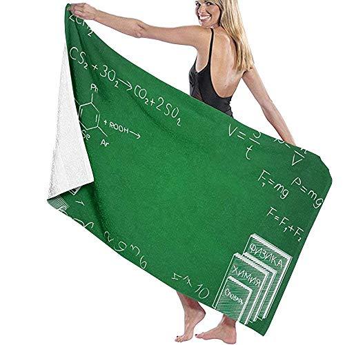 Tedtte Kreative und schöne Zusammenfassung für glückliche Lehrerinnen Frauen 'S Männer' S personalisierte hochabsorbierende Badetuch Soft Beach Towel 30 'X60'