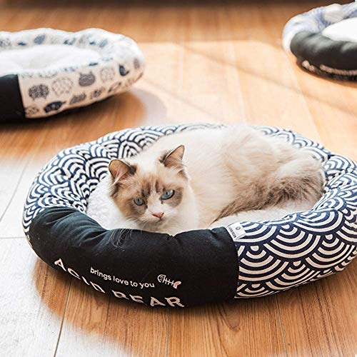 Weiches Haustierbett für Katzen und kleine mittelgroße Hunde, für den...