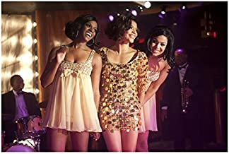 Sparkle Carmen Ejogo Smiling on Stage with Tike Sumpter and Jordin Sparks 8 x 10 inch Photo