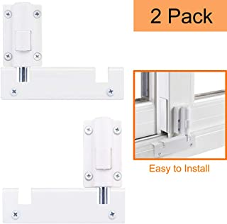 HauSun Patio Sliding Door Security Foot Lock Kick Lock, Fits on Top Rail-Childproof Patio Door Guardian-or Bottom Rail-Foot Operated-Keep Your Family Safe and Secure,2 Pack