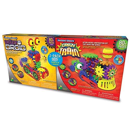 Techno Gears/ 2 Pack Set/ Dizzy Droid + Crazy Train, Multicolor, Large