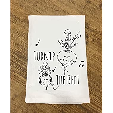 Funny Dishcloth/ Tea Towel ~Turnip The Beet ~ Funny Kitchen Cloth, Vegetable Pun