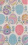 Elegant Easter Eggs Vinyl Flannel Back Tablecloth (60' Round)