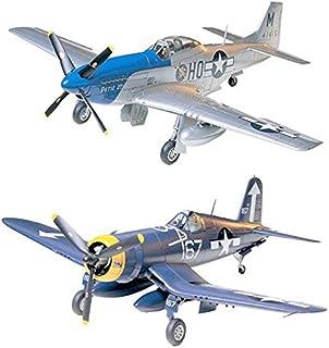 2 Tamiya Aircraft Model Kits - P-51 Mustang and Vought F4U-1D Corsair (Japan Import)