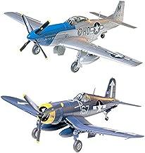 Tamiya 2 Aircraft Model Kits - P-51 Mustang Vought F4U-1D Corsair (Japan Import)
