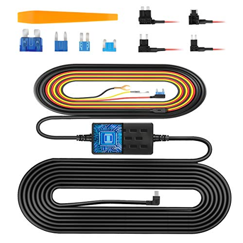 VanTop V9H Dash Cam Hardwire Kit, 11.5ft Mini USB Hard Wire Kit for Dashcam Converts 12V-24V to 5V/2.5A w/Fuse Kit and Installation Tool, Low Voltage Protection for Dash Cameras