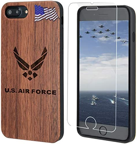 iProductsUS US Air Force Wood Phone Case Compatible with iPhone SE 2020 iPhone 8 7 6 6s 4 7 product image