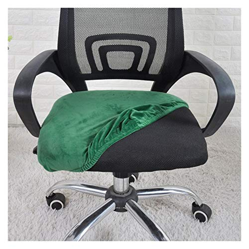 WQAZ Weicher Stuhlbezug Samtstuhl Sitzbezug für Bürostuhl Stretchstuhl Sitzbezug für Esszimmer Housse de Chaise Samtmaterial (Color : Green, Specification : Universal Size)
