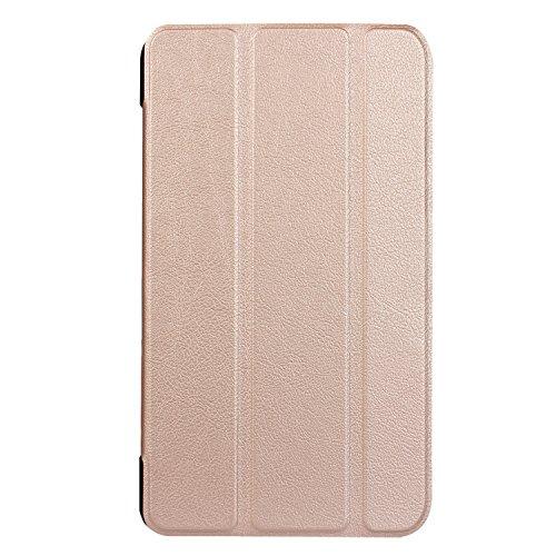INSOLKIDON Compatible con Acer Iconia One 7 B1-780 / B1-790 Funda Protectora Trasera de Cuero Bumper Protección de Cuerpo Completo Funda Protectora de Cuero (Oro)