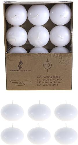 Mega Kerzen geruchloses 3,8  Schwimmende Disc Kerzen Weiß set von 36