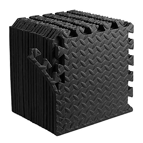 Dustgo Tapis de Protection de Sol, 18 Pcs Matelas Puzzle en Mousse EVA, pour Maison Gym Fitness Yoga (30x30x1.2cm)