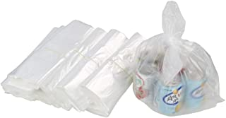 Kiddream 400 Counts Clear T-Shirt Shopping Bags Plastic Carryout Bag