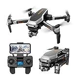 Momola L109PRO GPS Drone Quadricoptère 4K Anti-Vibration ESC 5G WiFi FPV HD Caméra Brushless Hélicoptère (avec 2 Batterie)