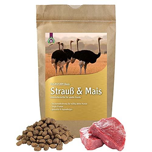 Schecker DOGREFORM Strauß & Mais Trockenfutter 2 x 12 kg Hundefutter hypoallergen glutenfrei
