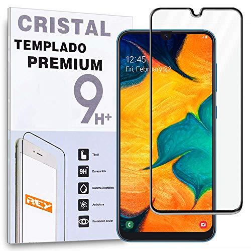 REY Protector de Pantalla 3D para Samsung Galaxy A50 - A30 - A20 - A50s - A30s, Negro, Protección Completa, 3D / 4D / 5D