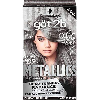 Got2b Metallic Permanent Hair Color M72 Dusty Silver