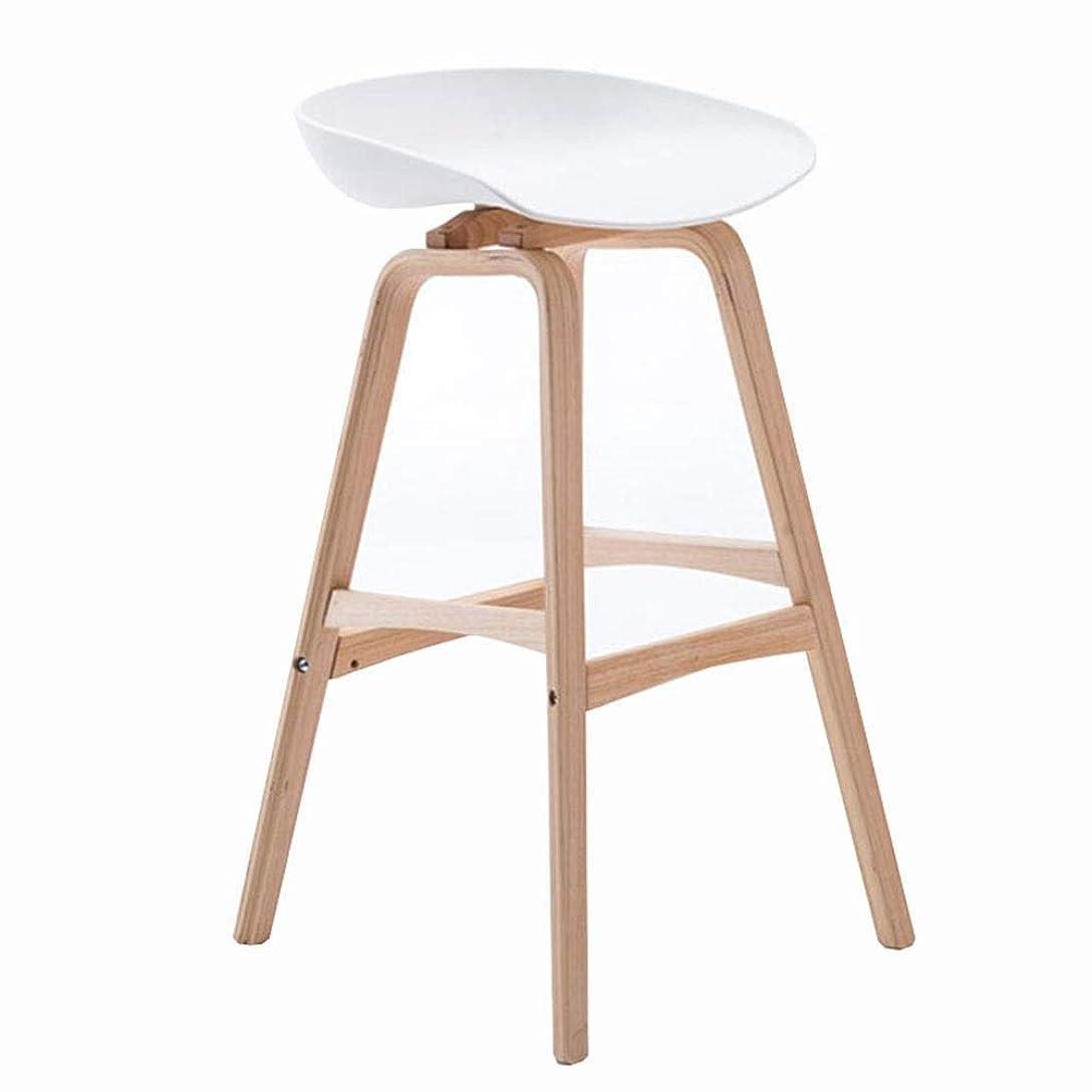 中断里親保存するQIDI バースツール木製ダイニングチェアバー家具モダンシンプルPPシート簡単にきれいにする高スツールベアリング重量150kg(カラー:GREY、サイズ:75CM) (色 : 黄)
