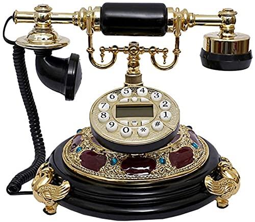 TAIDENG Clásico Europeo Retro teléfono Fijo Retro teléfono Fijo clásico Resina teléfono Europeo Retro Antiguo casa y Oficina telefono Decorativo (Color : C)