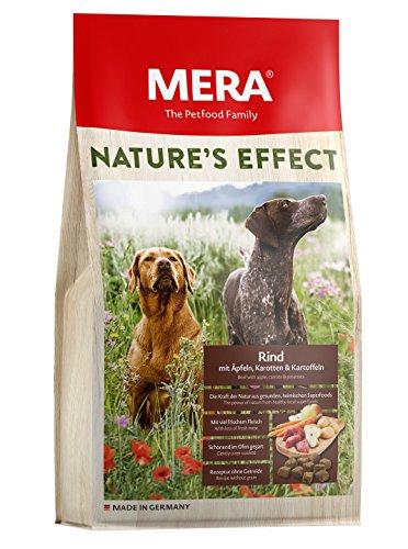 MERA NATURE'S EFFECT, Getreidefreies Hundefutter, Premium Trockenfutter für Hunde mit Rind, Äpfeln, Karotten und Kartoffeln ,3 x 1kg