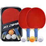 Raquette de Ping Pong Hautes Performances, Set de Tennis de Table, 9-Ply Bois |...
