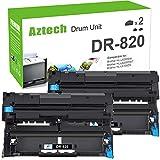 Aztech Compatible Drum Unit Replacement for Brother DR820 DR-820 DR 820 for Brother HL-L6200DW MFC-L5850DW MFC-L5900DW MFC-L6700DW MFC-L5800DW HLL6200DW HL-L5200DW HLL5100DN Printer (Black, 2-Pack)