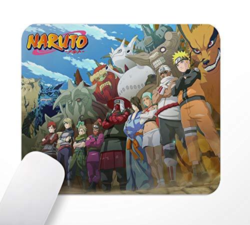 Tapis de Souris de Bureau de Jeu, Anime Naruto, Tapis de Souris antidérapant à Base de Caoutchouc, 24 × 20 cm, Ordinateur PC, avec Une Surface Textile Douce et Un Effet Antistatique