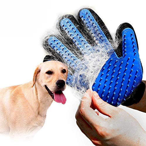 Product Image 1: PICKVILL Efficient Pet Hair Remover Mitt Enhanced 5 Finger Design Gentle Deshedding Brush Gloves for Dogs with Long and Short Fur (Multicolour)