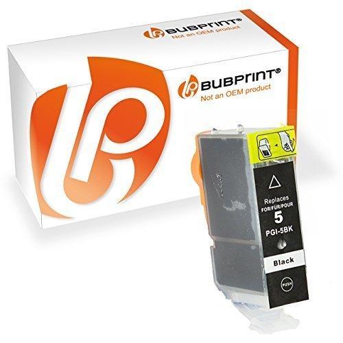 Bubprint Druckerpatrone kompatibel für Canon PGI-5BK für Pixma IP3300 IP3500 IP4200 IP4300 IP4500 IP5200 IX4000 MP510 MP600 MP610 MP970 MX700 Schwarz