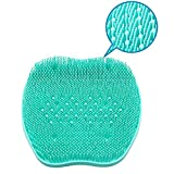 XDgrace Foot Scrubber Brush Feet Massager, Non Slip Shower Foot Cleaner Acupressure Floor Mat with Suction Cups, Exfoliation Improves Foot Circulation