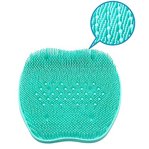 XDgrace Shower Foot Massager Scrubber with Non-Slip Suction Cups, Feet Cleaner Bath Massage Mat Improves Circulation (Turquoise)