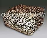 Confezioni Giuliana Trapunta Invernale 1 Una Piazza Mezza 1/2 piumone Piumino Leopardata Leopardo