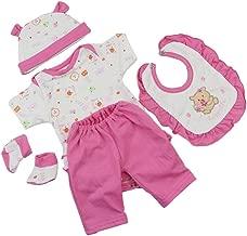 Rrunzfon 18 inch Doll Clothes Manica Lunga Bambola del Vestito da Partito del Vestito per Tutti da 18 Pollici Accessori delle Bambole Rosa