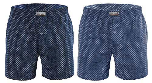 Sesto Senso Schlafanzughose Herren Kurz Baumwolle Pyjamahose 1er 2er Pack/XL, 2pak 5+6