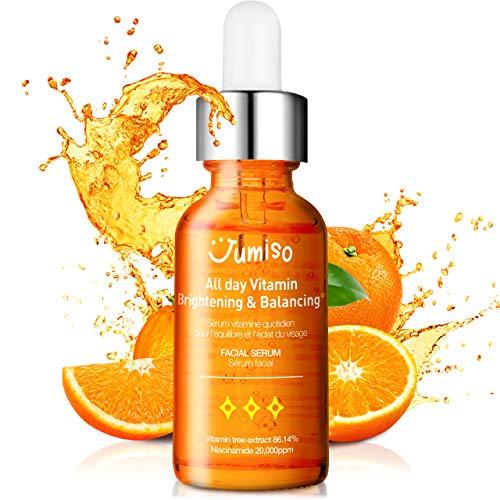 JUMISO All Day Vitamin Brightening & Balancing for Acne and Dark Spot care, Vitamina 86% Siero, Acido Ialuronico, VEGANO
