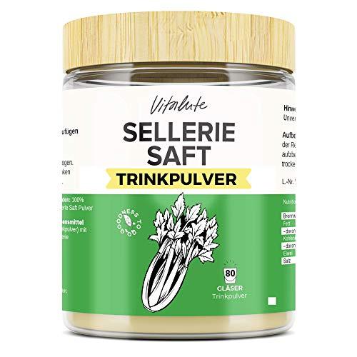 Selleriesaft Trinkpulver - 40 Portionen - Ohne Zuckerzusatz oder Konservierungsstoffe - Sellerie Saft bequem als Trinkpulver ohne Entsafter