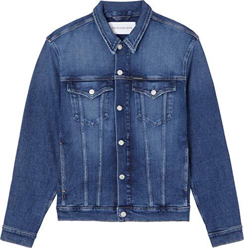 Calvin Klein Jeans Foundation Jacket Giacca, Denim Scuro, XS Uomo