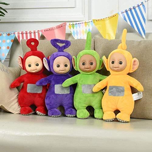 Juguetes de Peluche Venta Caliente Teletubbies Baby Doll Cartoon Movie Toys Niños con Cara 3D Regalo para niños 25cm 4 Piezas