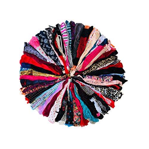 Morvia Varieties of Women Thong Pack Lacy Tanga G-String Bikini Underwear Panties (M, 28 Pcs)