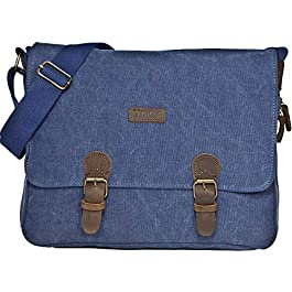 LucieElle Besace Gibecière Toile Homme Bandoulière Format A4 / Gibecière Besace Toile Femme Bandoulière Format A4 / Sac…