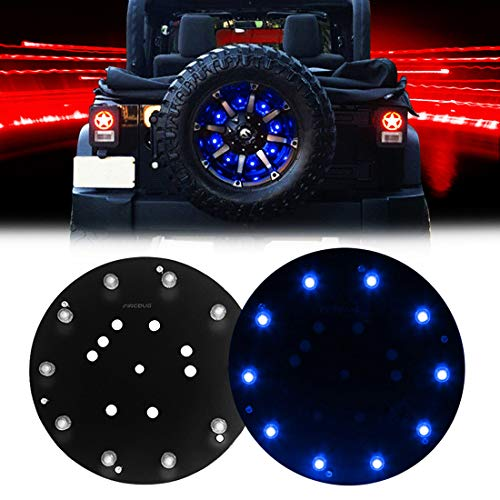 Firebug JK 3rd Brake Light LED, JK Spare Tire Brake Light, JK LED Brake Light, JK Accessories Lights for Spare Tire, JK Wrangler Spare Tire Brake Light JK JKU 2007-2017, Blue