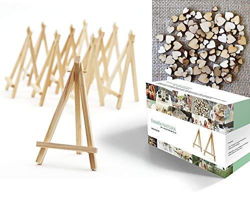 Fairytale Wedding ©   Libro de visitas de boda de madera con 81 Corazones, con cristal real, marco de fotos para rellenar con corazones de madera, de alta calidad, marco de madera para escribir