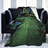 EgVgxir Oogie Boogie Blanket Super Soft Flannel Throw Blanket Funny Anime Blankets for Couch Bed Sofa 80'X60'