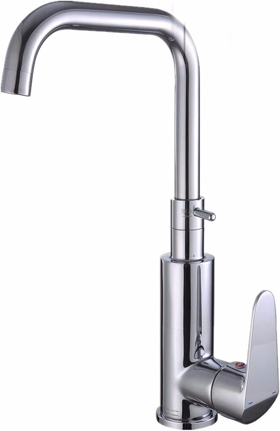 LaLF Kitchen Hot and Cold Kitchen Faucet Single Handle Single Hole Stainless Steel Sink Faucet
