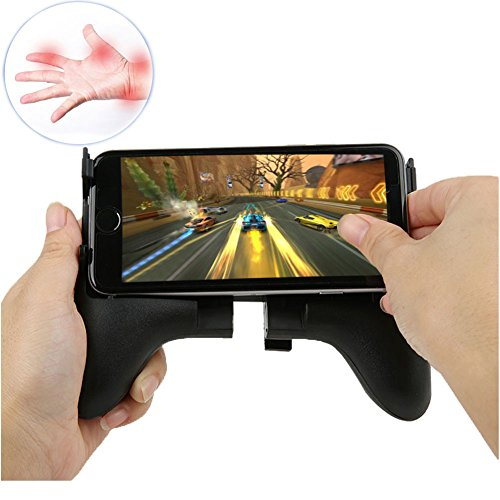 LoaferUp Gamepad Wireless Mobile Phone Gamepad Holder Improve Handle for Career Game, with Ergonomic Design, Angle-Adjustable for Cellphones Support 4.5''-6.5'' Smartphone