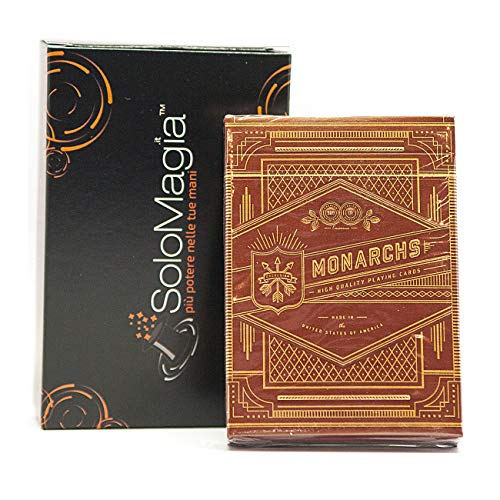 SOLOMAGIA Mazzo di Carte Monarchs Playing Cards (Red) by Theory 11 - con Omaggio Esclusivo Firmato