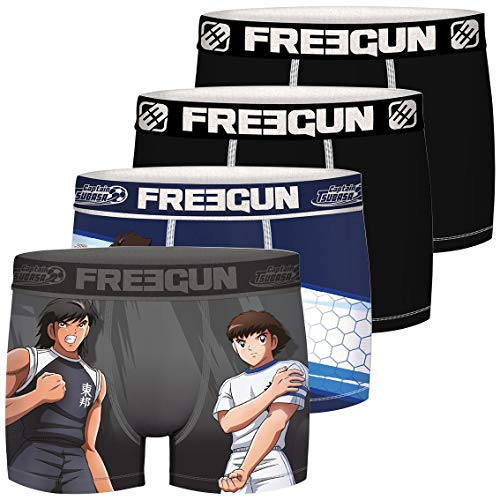 Freegun Herren CAPTAIN TSUBASA ET KOJIRO FG/TSU/AM/1/PK4 Unterwäsche, P1, M (4er Pack)