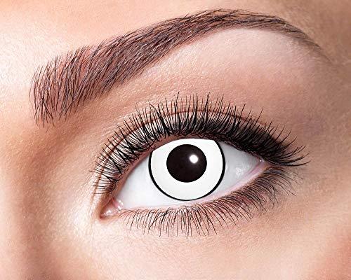 Eyecatcher Motivlinsen - farbige 3-Monats-Kontaktlinsen - white manson m06