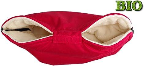 Kaarsgaren Handwärmer für Kinderwagen Rot, warmer Handmuff mit Bio-Baumwolle Innenfutter, Universalgröße für Buggy, Jogger, Radanhänger Rot