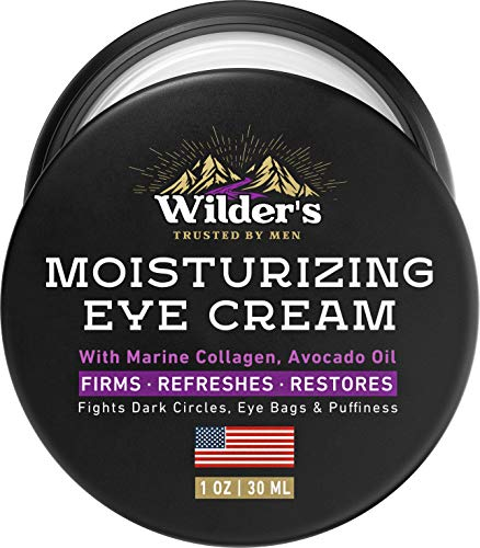 51i3tCzzbhL - Moisturizing Men's Eye Cream - Eye Firming & Refreshing Men's Wrinkle Cream - Made in USA - Men's Anti-Aging Cream for Dark Under-Eye Circles, Eye Bags & Puffiness - Under Eye Cream for Men 1 oz